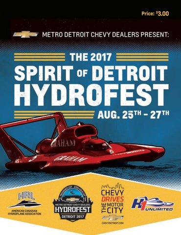 2017 Spirit of Detroit Hydrofest on the Detroit River by