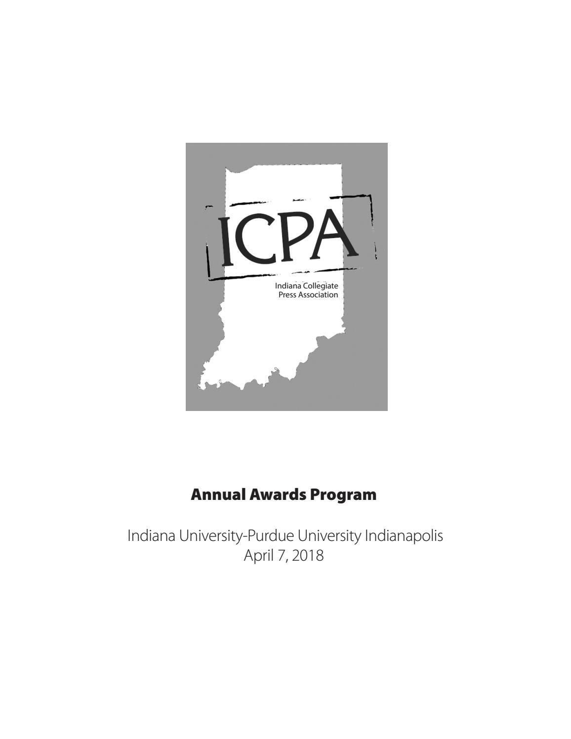 e03eea195c73 2018 ICPA Awards Booklet by Indiana Collegiate Press Association - issuu