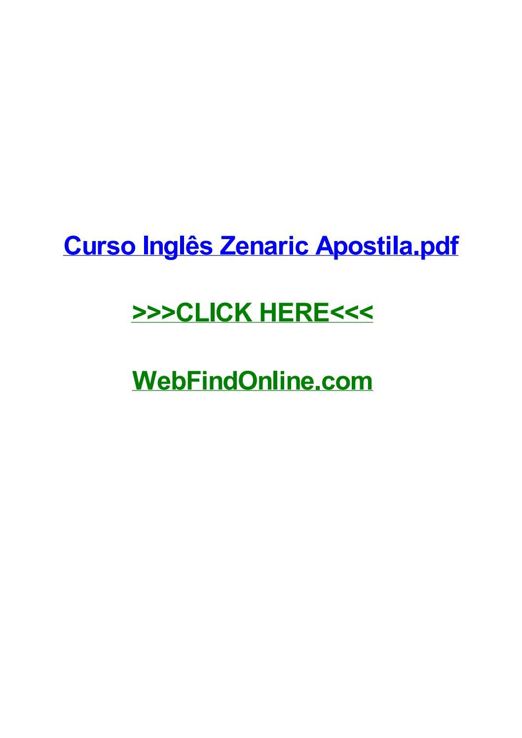 Curso inglгєs zenaric apostila pdf by monicapjqkd issuu.