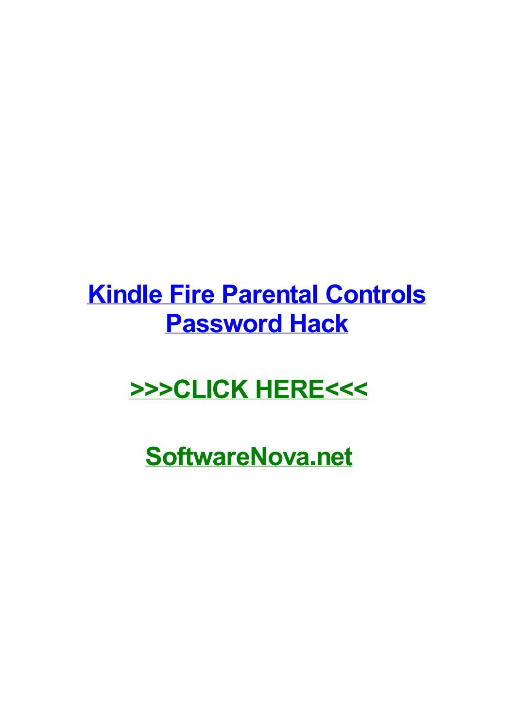 Kindle fire parental controls password hack by kamekiarugd