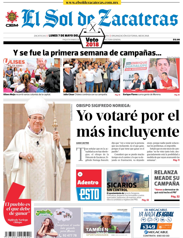 El Sol de Zacatecas 7 de mayo 2018 by El Sol de Zacatecas - issuu 9fb94e0cce57e