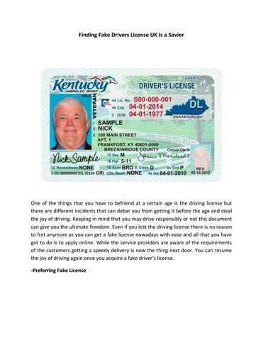 Finding Fake Drivers License UK Is A Savior POSTED by
