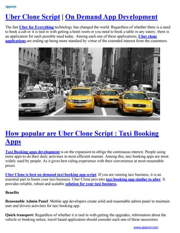 Uber Clone Script | On Demand App Development by Apporio