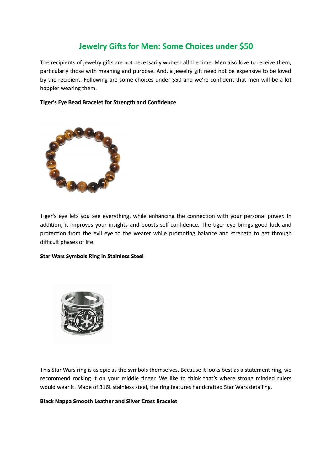 Jewelry Gifts For Men Some Choices Under 50 By Forziani Issuu