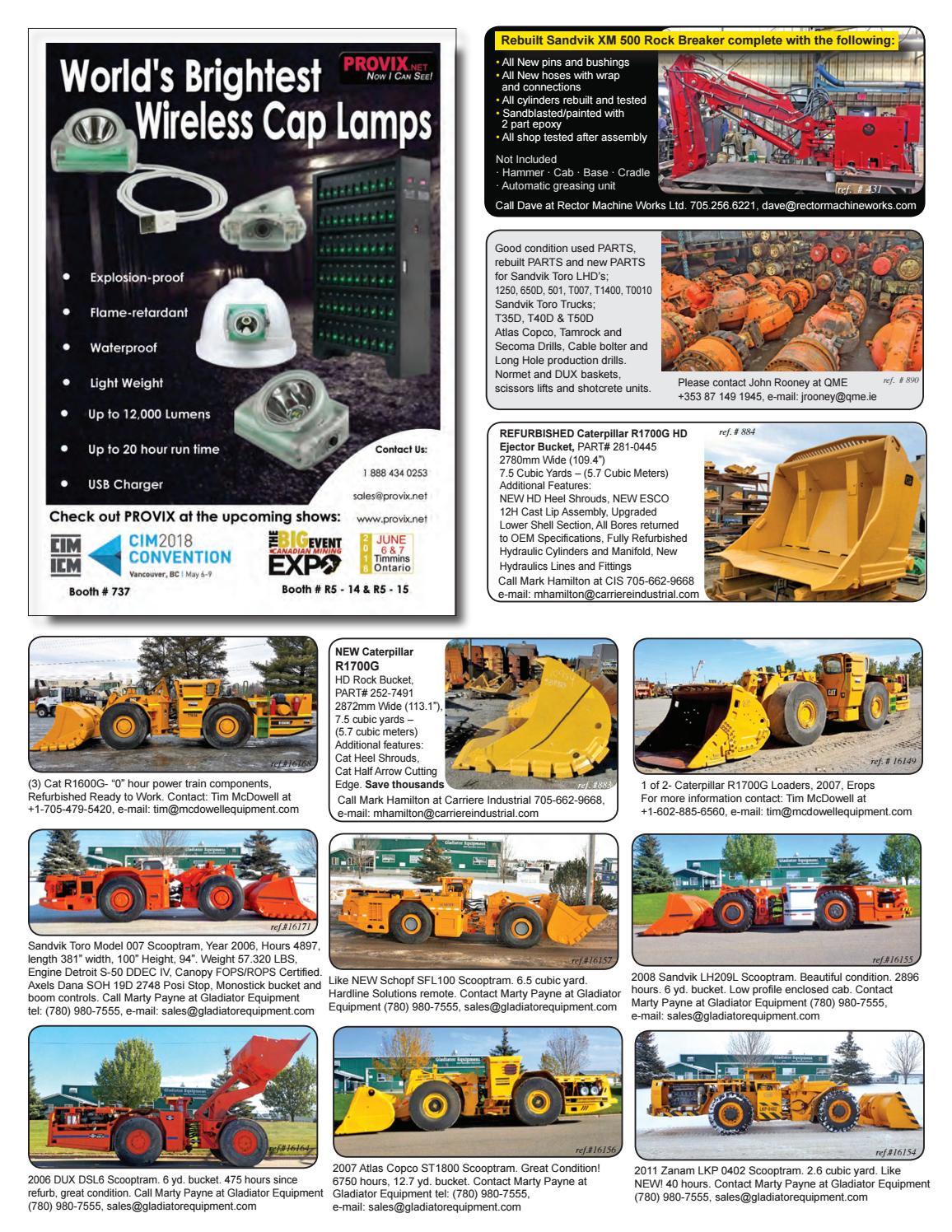Mining Equipment Buyers Catalogue v63, Q2 2018 by The Mining