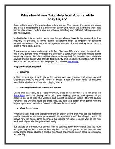 Satta king   Satta-King   Satta Bazzar by sattakling website - issuu