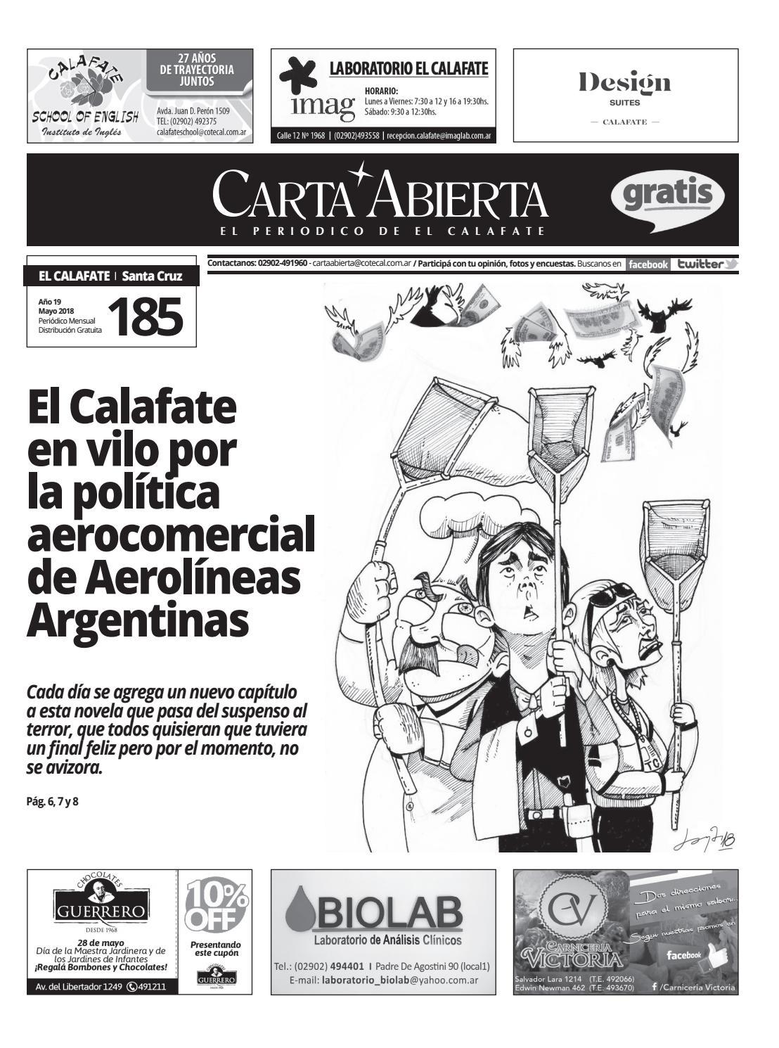 Carta Abierta, El Periódico de El Calafate, Edición de mayo de 2018 ...