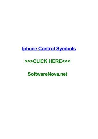 Iphone Control Symbols By Chrisanpi Issuu