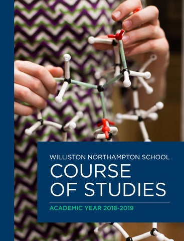 Course of Studies 2018-2019 by Williston Northampton School - issuu