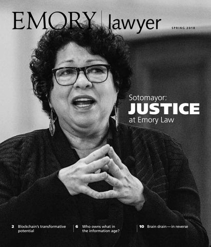 Emory Lawyer | Spring 2018 by Emory University School of Law