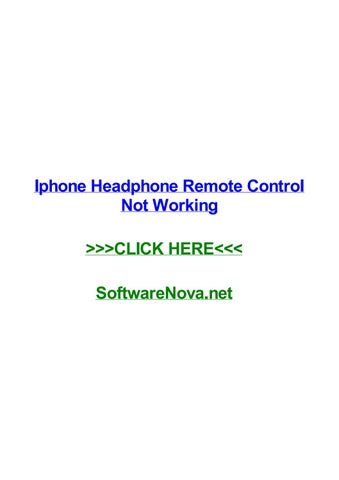 Iphone headphone remote control not working by davidostzr