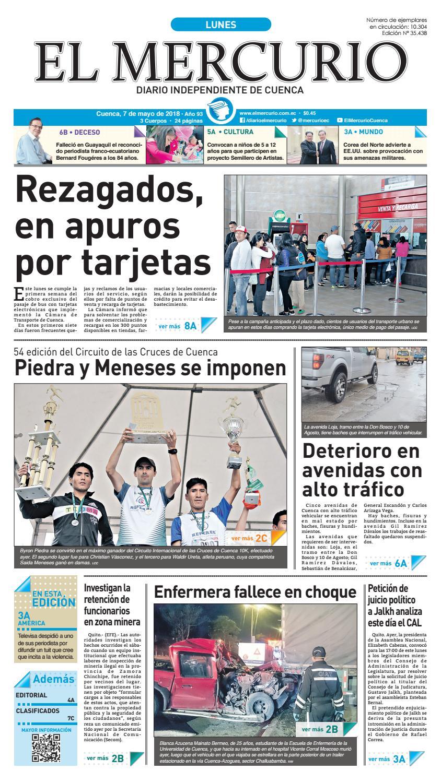 hemeroteca 07-05-2018 by Diario El Mercurio Cuenca - issuu