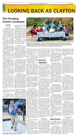 Page 10 of Looking Back as Clayton Pioneer marks 15 years