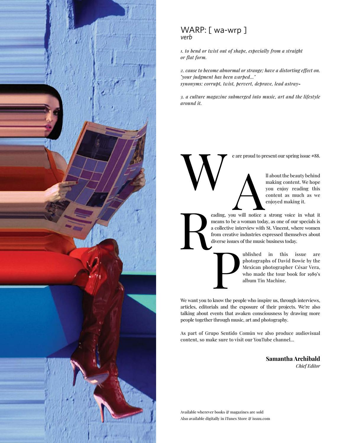 WARP MAGAZINE 88 by WARP MAGAZINE - issuu