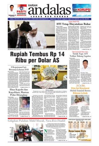 Epaper andalas edisi selasa 08 mei 2018 by media andalas - issuu 44cb4108ec