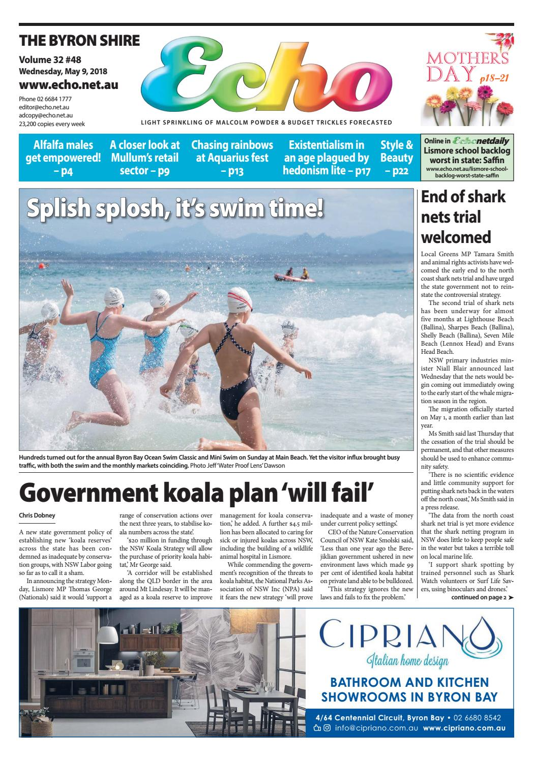 The Byron Shire Echo – Issue 32.48 – May 9, 2018 by Echo ...