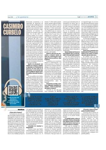 Page 27 of Casimiro Curbelo, presidente del Cabildo de La Gomera y diputado en el Parlamento de Canarias por la Agrupación Socialista Gomera