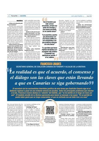 Page 4 of Un año para las elecciones: Francisco Linares, secretario insular de Coalición Canaria