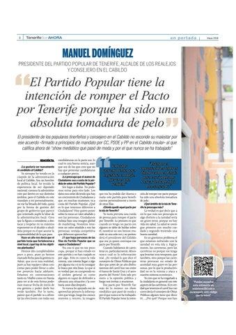 Page 8 of Un año para las elecciones: Manuel Domínguez, secretario insular del Partido Popular