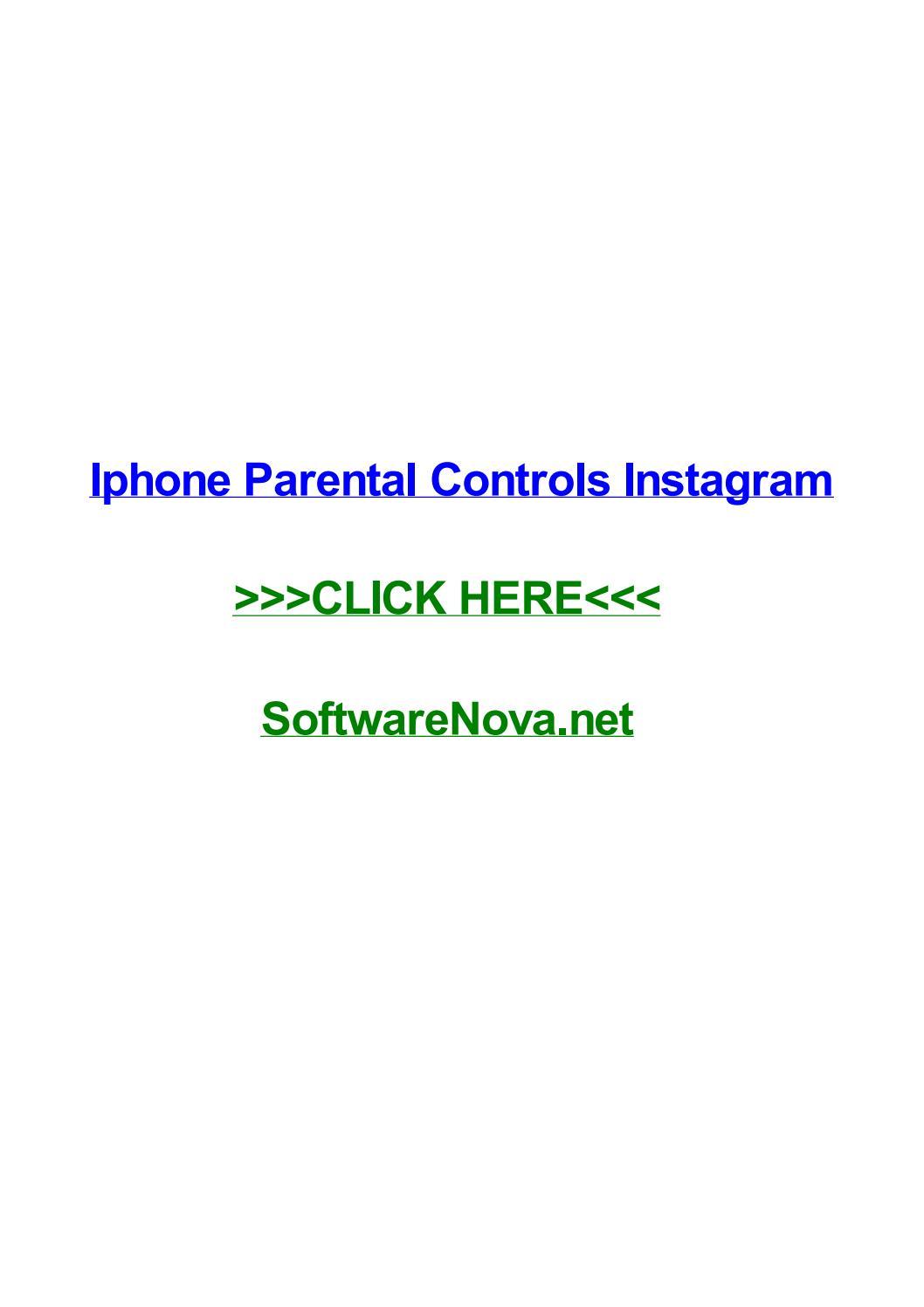 Iphone Parental Controls Instagram By Hughfotc Issuu