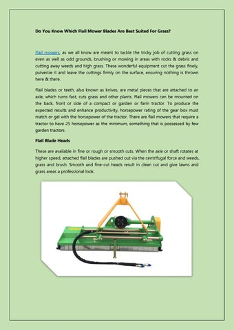 Flail mowers for sale by Etractor Implements - issuu