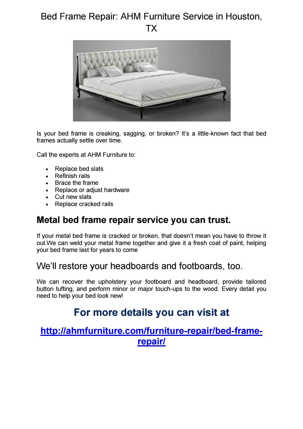 Bed frame repair by shirleyemerson - issuu