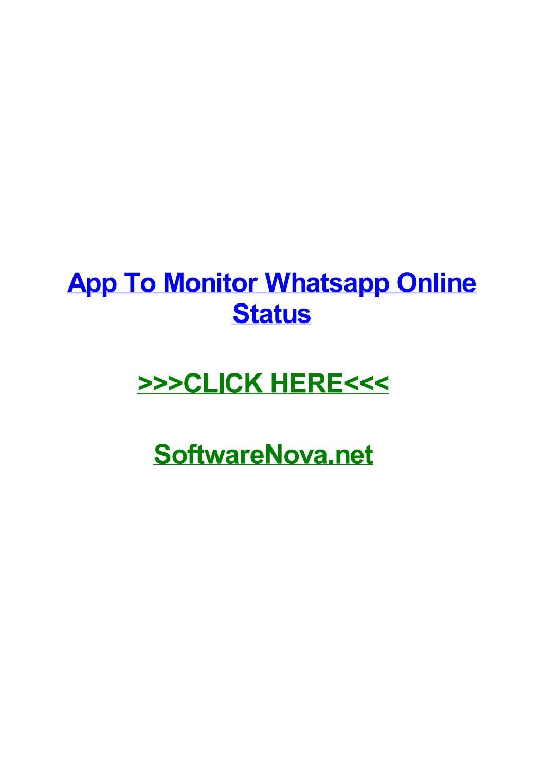 App To Monitor Whatsapp Online Status By Mikediooq Issuu