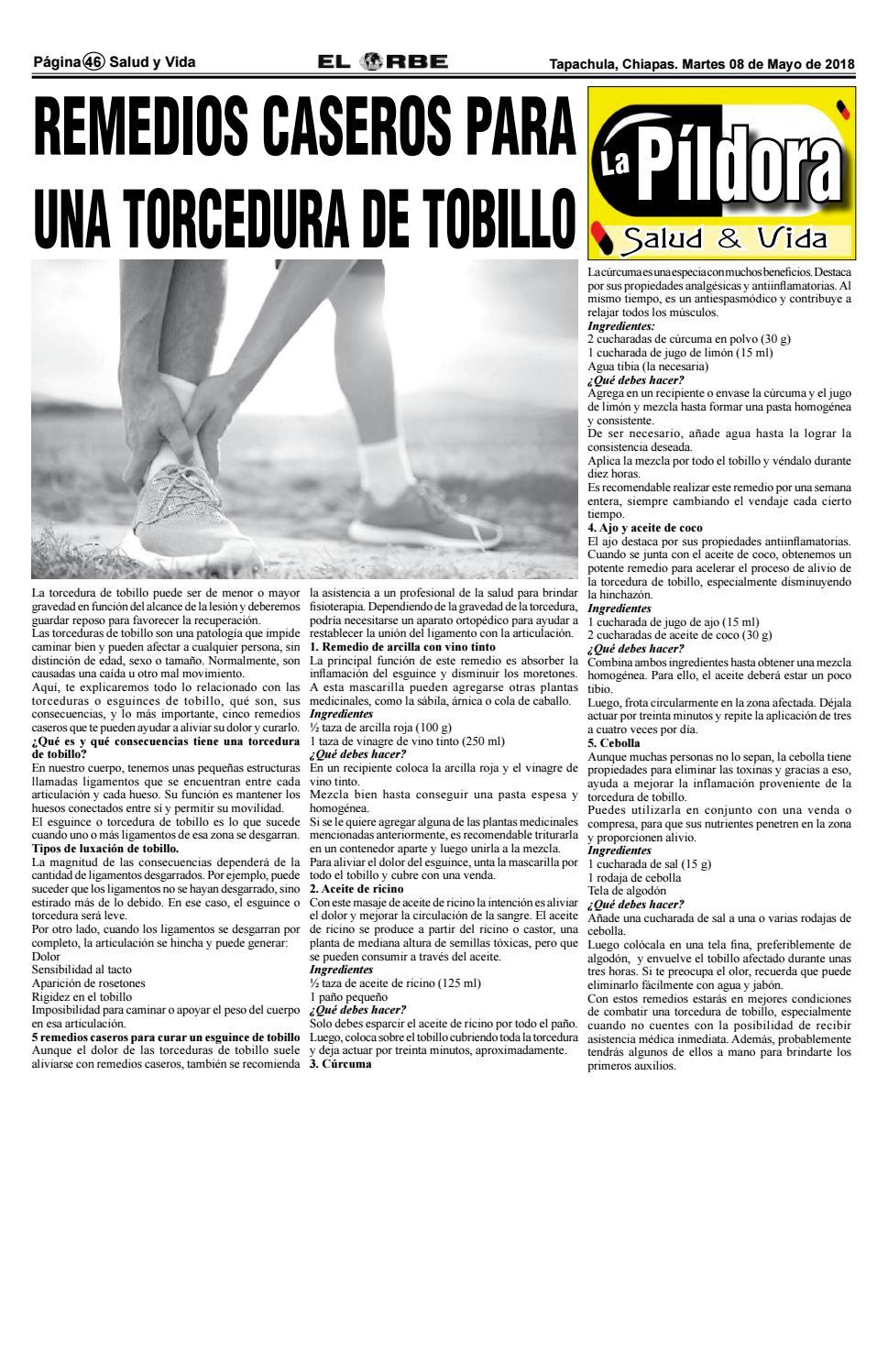 remedios caseros para desinflamar un tobillo