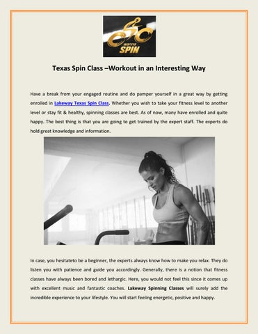 Texas Spin Class –Workout in an Interesting Way by wanna