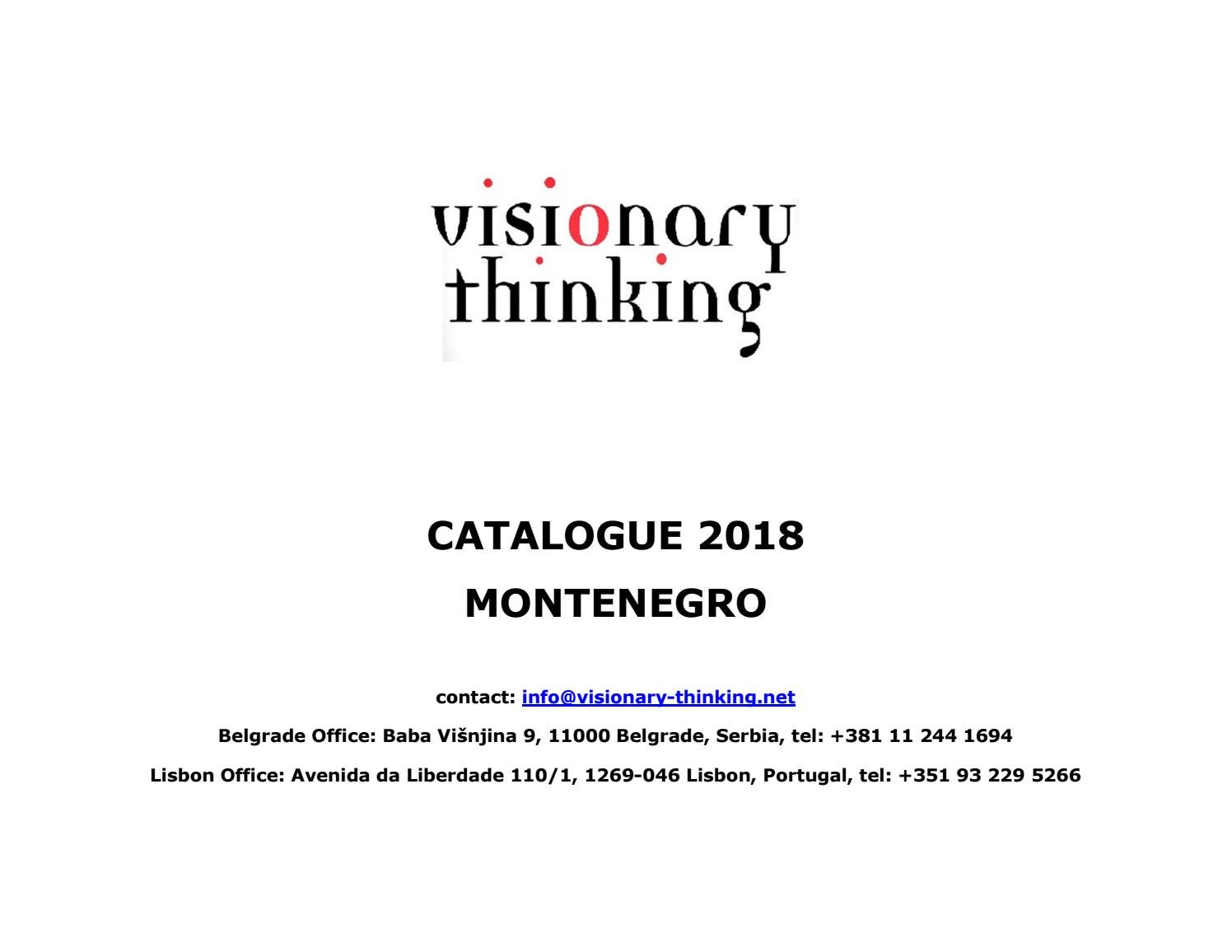 Visionary Thinking Catalogue, Montenegro 2018 by Dragan Petrovic - issuu
