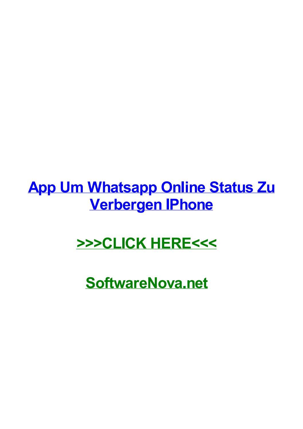 App Um Whatsapp Online Status Zu Verbergen Iphone By