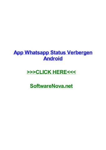 App Whatsapp Status Verbergen Android By Nataliezzbsq Issuu