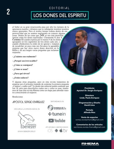 Page 2 of Editorial por Apóstol Sergio Enríquez