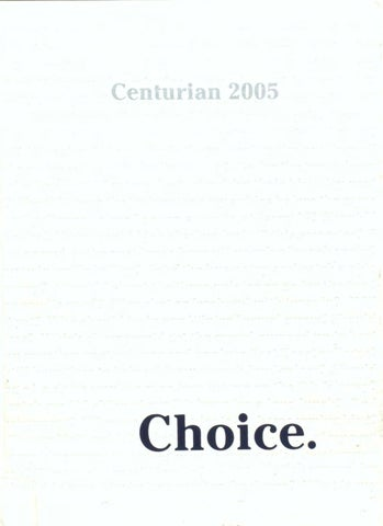 85500985ca7 The Centurian Yearbook 2005 by Centurian Archives - issuu