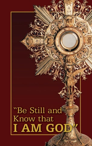 Meditation Booklet - Be Still and Know that I AM God by Crusade ...