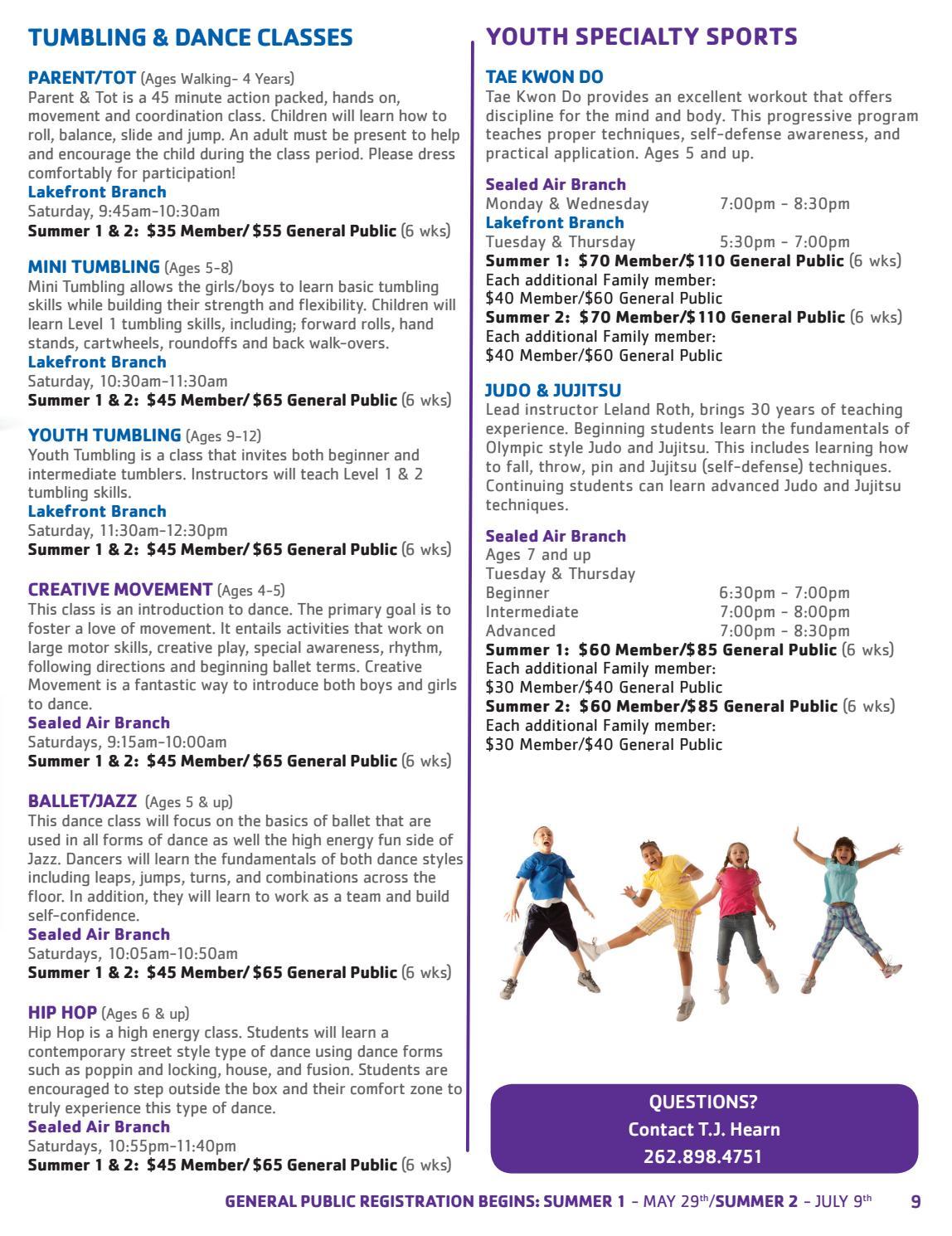 2018 Racine Family YMCA Summer Brochure by RACINE FAMILY