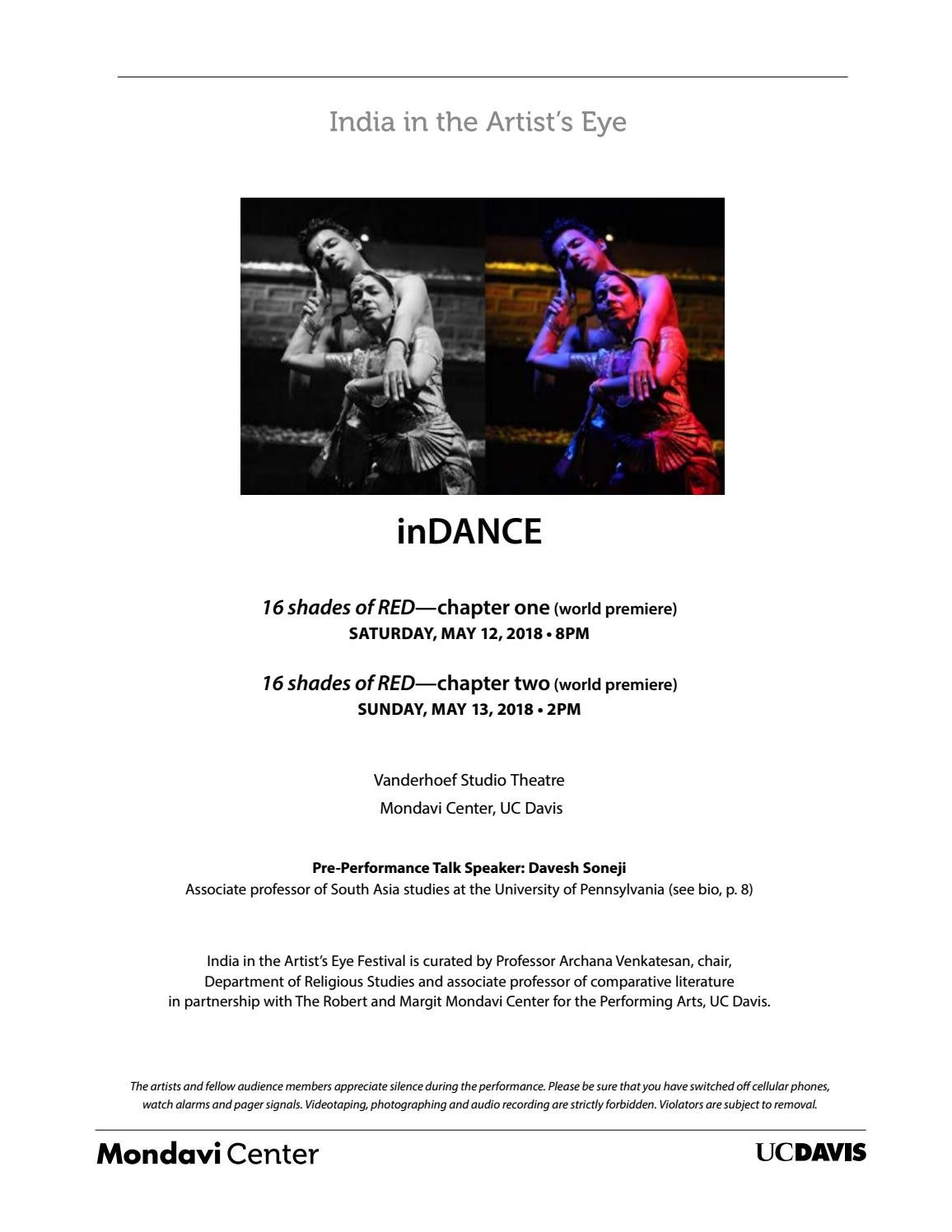 inDANCE Program by Robert and Margrit Mondavi Center for the