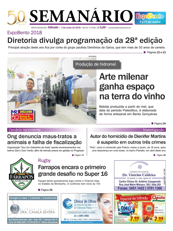 4700ea597 Jornal Semanário – 5 de maio de 2018 – Ano 51 – Nº 3435 by Jornal Semanário  - Bento Gonçalves - RS - issuu