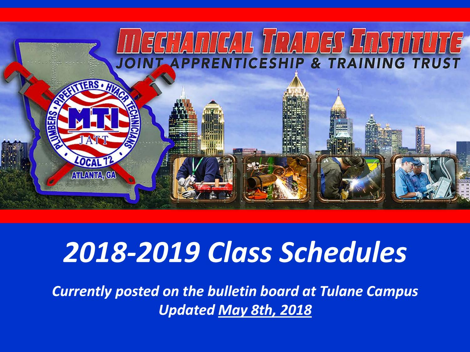 2018 2018 class schedules for website (may 8, 2018) by mti-jatt