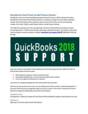 Quickbooks pos support 2018 ☎ 1(800) 940 7442 dial for help