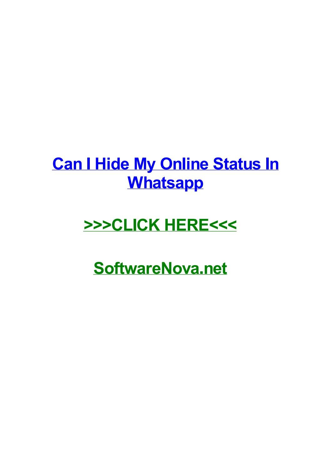 Embed Can I Hide My Online Status In Whatsapp