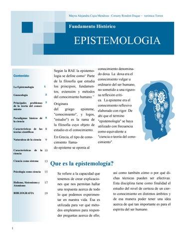 Revista Fundamentos Historico Y Epistemologico Corte 2 By