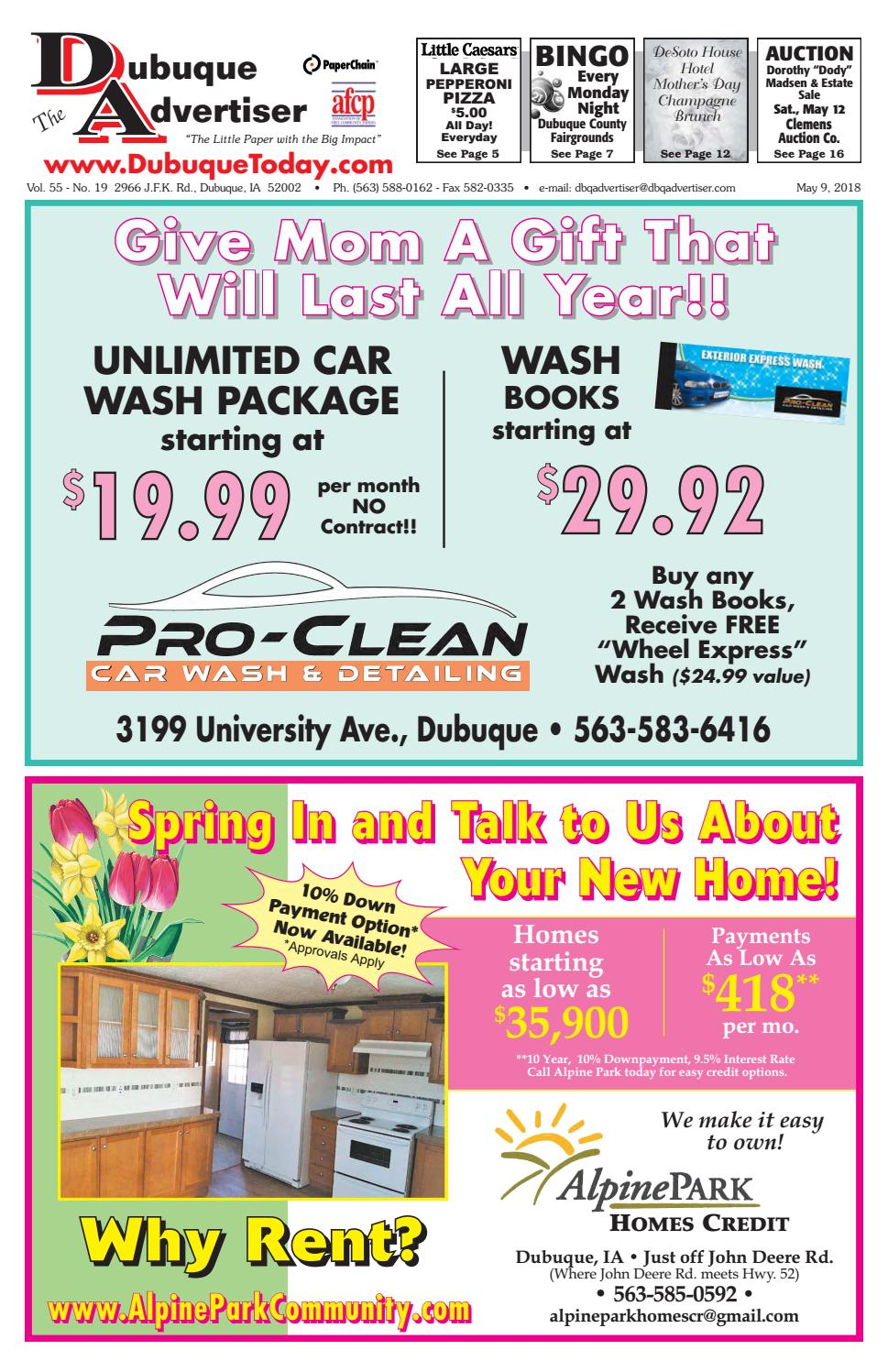 The Dubuque Advertiser May 9 2018 By Issuu Home Gt Appliances Rv Appliance Circuit Boards
