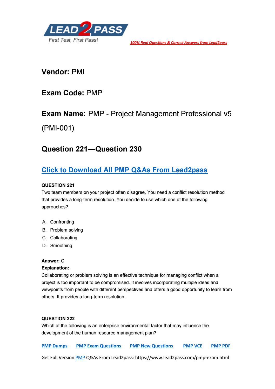 Pmp exam code