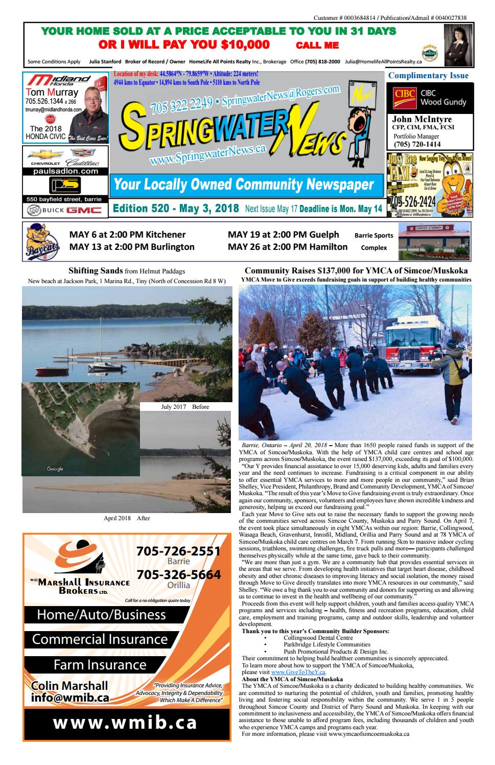 May 3 2018 ed 520 28 pages for web by Springwater News - issuu Kdra Yamaha Golf Cart Html on