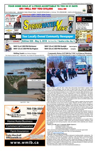 May 3 2018 Ed 520 28 Pages For Web By Springwater News Issuu