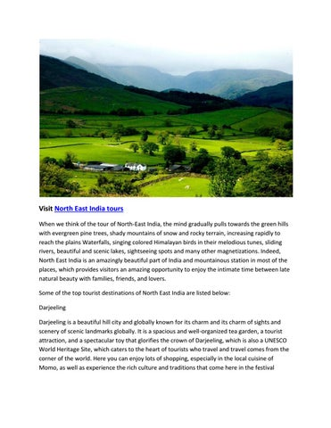 Visit north east india tours by Top Travel - issuu