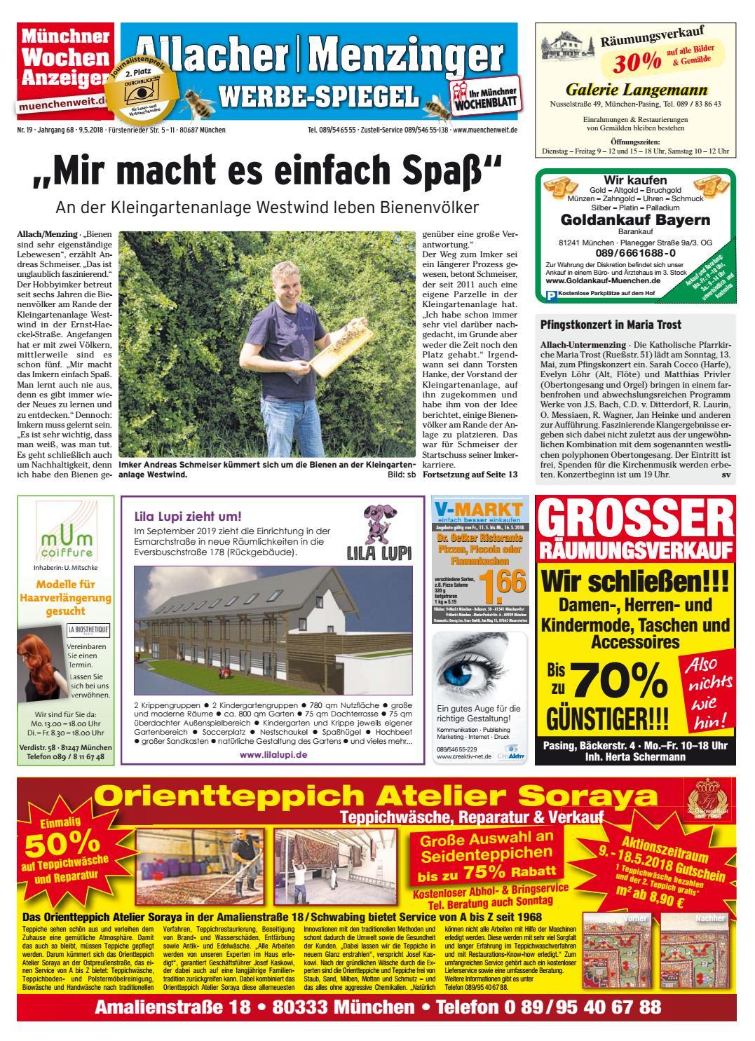 24ae9ca6c2f477 KW 19-2018 by Wochenanzeiger Medien GmbH - issuu