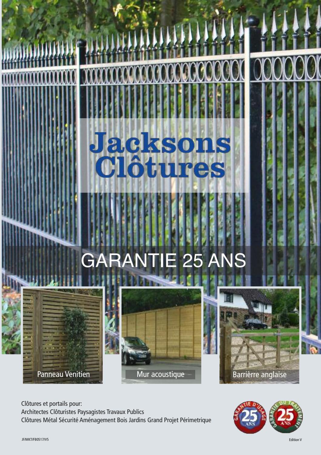 Cloture Bois Hauteur 2M50 jacksons clotures 2017jacksons fencing - issuu