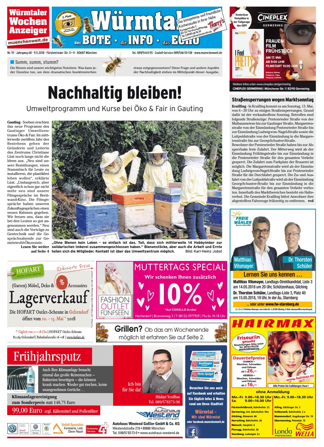 Kw 19 2018 By Wochenanzeiger Medien Gmbh Issuu